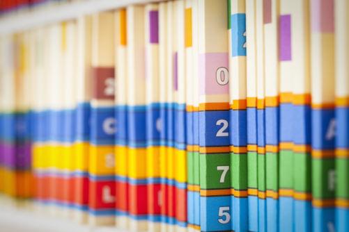 Medical Files on Shelf